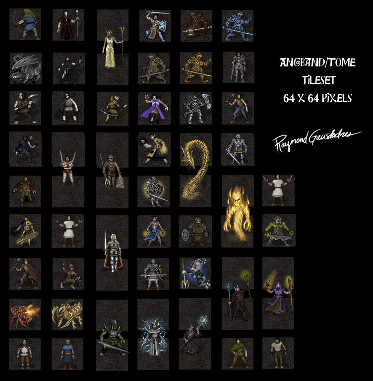 Angband 64 x 64 pixel tileset [Archive] - Angband Forums